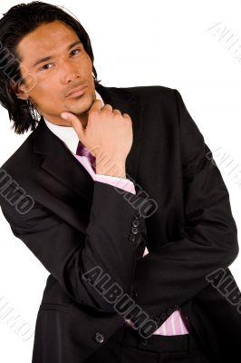 Businessman is thinking