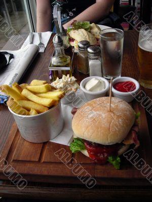 Big English Beef Burger