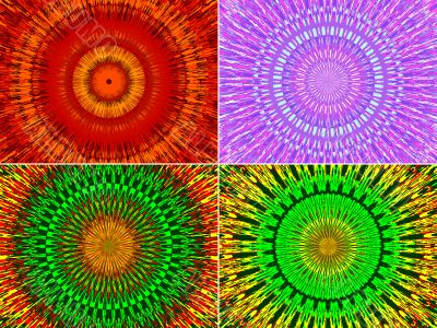 Beautiful abstract fractal flowers