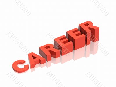 Conceptual image - career a ladder