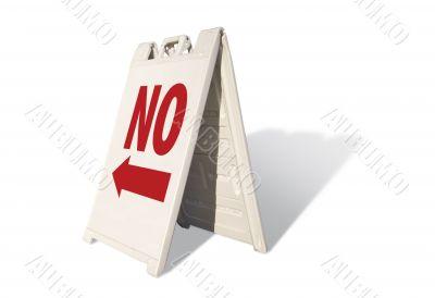 No Tent Sign
