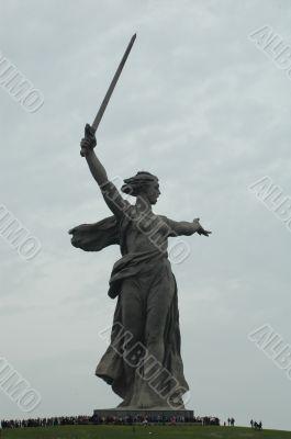 World War II Memorial obelisk on mound Mamayev Kurgan Russia