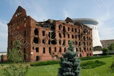 Museum panorama Stalingrad fight destroyed Russia