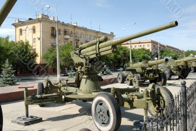 Antiaircraft gun of times of the second world war