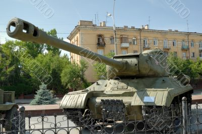 Heavy tank IS-2 of times of the second world war.