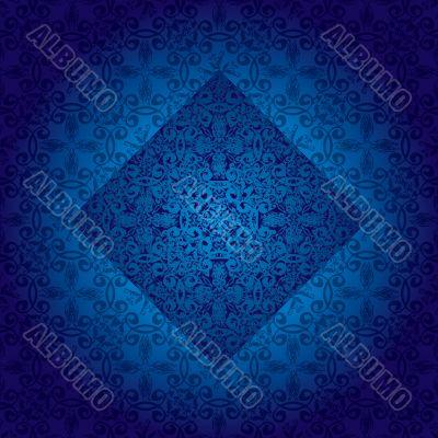 floral fancy repeat blue