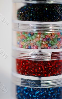 Tubs of Seed Beads