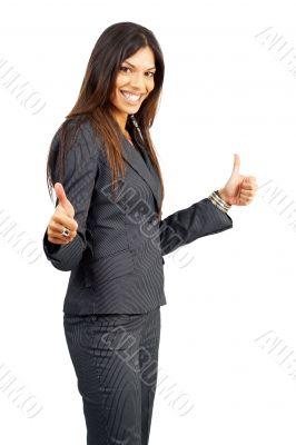 Beautiful successful brunette woman