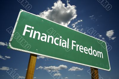 Financial Freedom Road Sign
