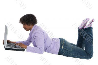 Woman browsing in internet