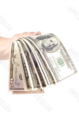 hand and money