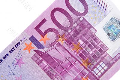 One bill of five hundred euros