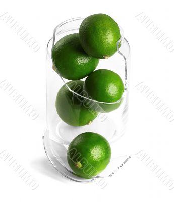broken jar and lime