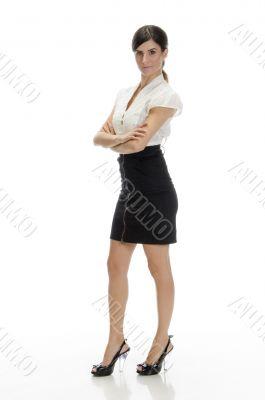 standing glamorous female