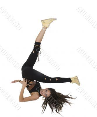 exercising glamorous lady