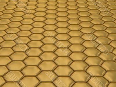 Comb honey. 3D image. Illustrations