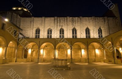 Ascoli Piceno - Illuminated cloister at night