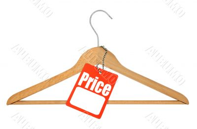 coat hanger and price tag