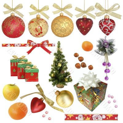Christmas collection / isolated objects / XXXL size