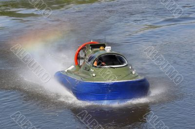 Boundary boat on an air cushion