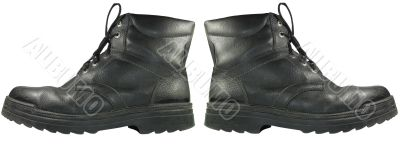 Army boots isolated on white background