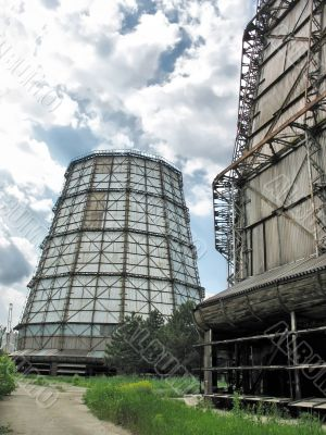 Towers at a electric power plant