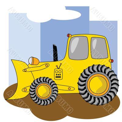 Cartoon bulldozer 2