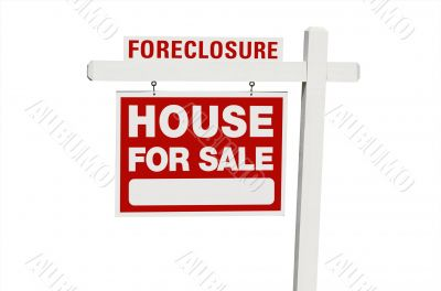 Foreclosure Home For Sale Real Estate Sign