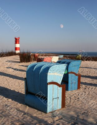 beach chairs of Helgoland