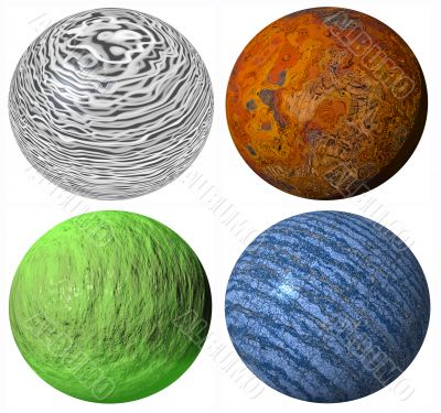 colored abstract pattern stone spheres high quality rendered from 3d
