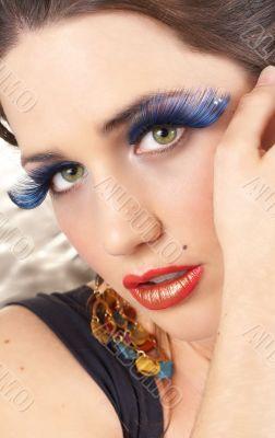 Portrait of beautiful brunette woman