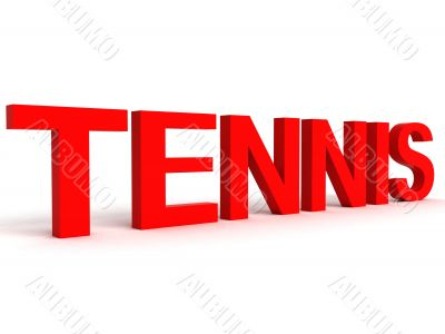 side view of tennis word