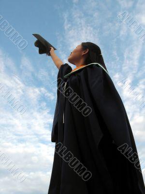 Successful female graduate