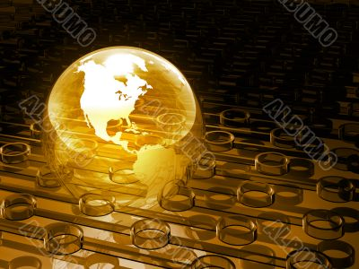Glowing Yellow Earth
