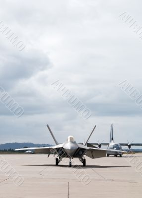 Fighter Plane Ready to Take Off