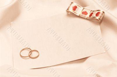 wedding invitation on the white background