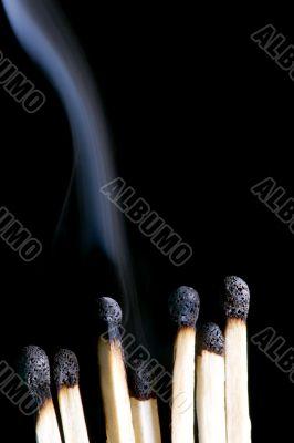 match and smoke closeup