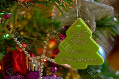 Green christmas ornament