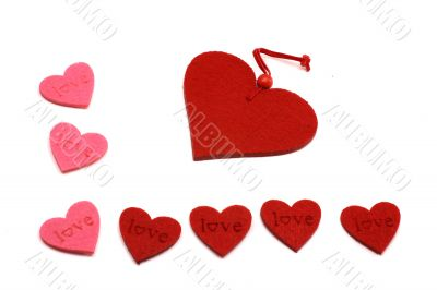 A lot of red and pink hearts