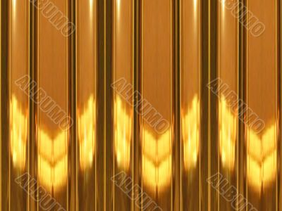 brightly-brown striped Wooden wall