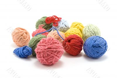 Ball of the colour threads 5