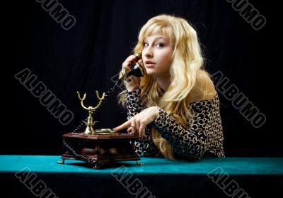 Lovely girl on telephone