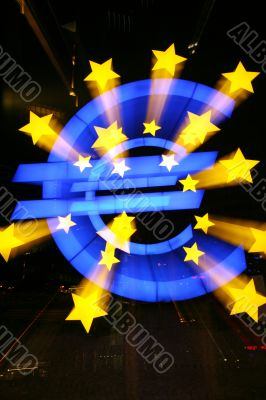 Euro Sign Outside European Central Bank