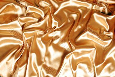 Elegant gold satin