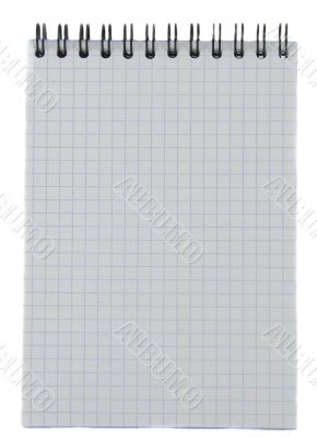 Notebook with striped paper, binder and empty page for your text