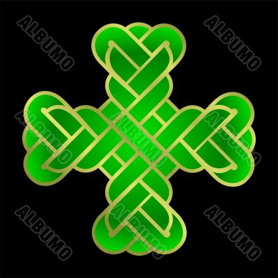 vector  twisted Christian Holy cross