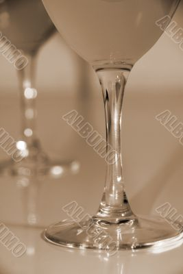 Celebrate with Drinks in Wine Glasses sepia