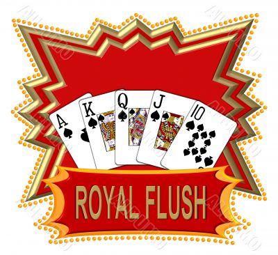 poker royal flush logo