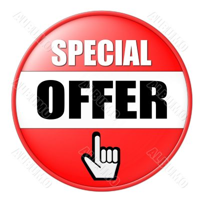 isolated special offer button
