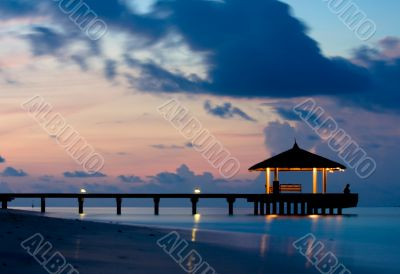 Tranquil Ocean in the twilight